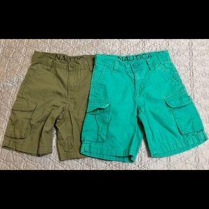 Duo of little boys Nautica Cargo Shorts